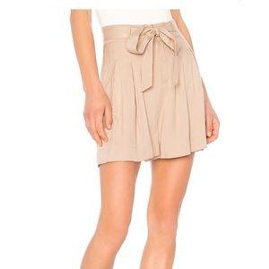 NEW BB Dakota Tan High Waist Tie Shorts, 6